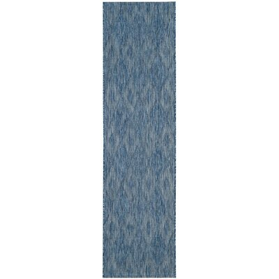 Lefferts Navy Indoor/Outdoor Area Rug Rug Size: Rectangle 27 x 5