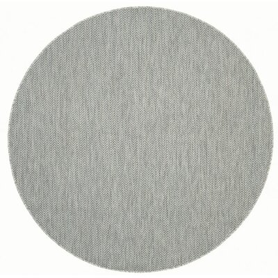 Mullen Gray / Navy Indoor/Outdoor Area Rug Rug Size: Round 67