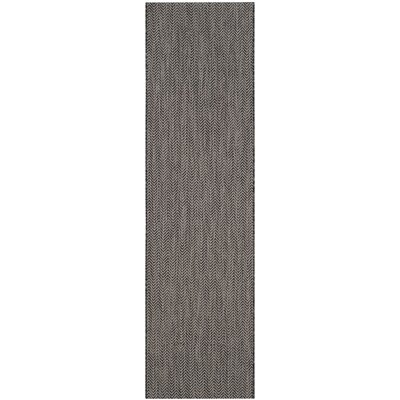 Mullen Rectangle Black / Beige Area Rug Rug Size: Rectangle 27 x 5