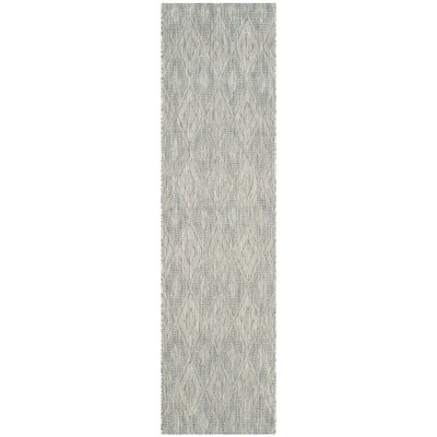 Lefferts Geometric Gray Indoor/Outdoor Area Rug Rug Size: Runner 23 x 12