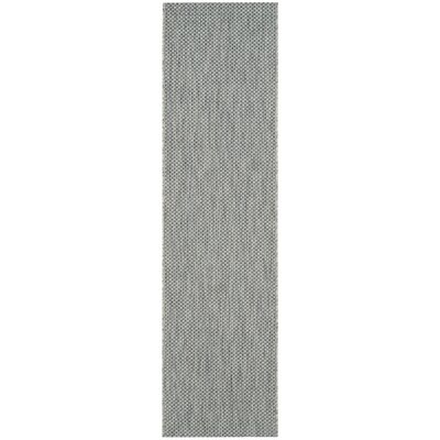 Bolen Gray / Navy Indoor/Outdoor Area Rug Rug Size: Runner 2'3