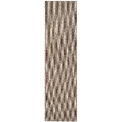 Estella Natural / Black Area Rug Rug Size: Runner 2'3