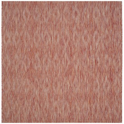 Estella Red Indoor/Outdoor Area Rug Rug Size: Square 6'7