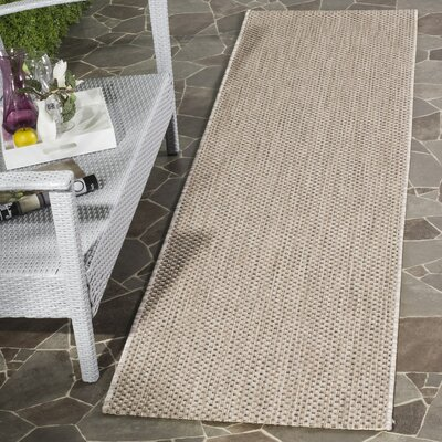 Mullen Beige/Brown Area Rug Rug Size: Rectangle 2 x 37