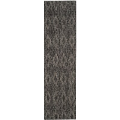 Lefferts Black Indoor/Outdoor Area Rug Rug Size: Runner 23 x 12