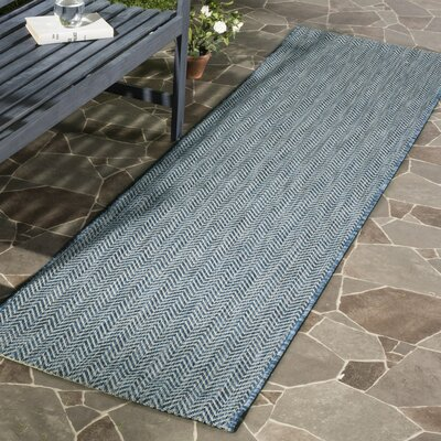Mullen Navy / Gray Area Rug Rug Size: Rectangle 2 x 37