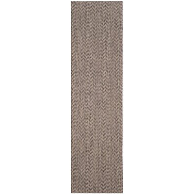 Mullen Brown / Beige Area Rug Rug Size: Runner 23 x 8