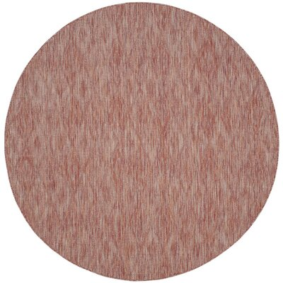 Estella Red Indoor/Outdoor Area Rug Rug Size: Round 6'7