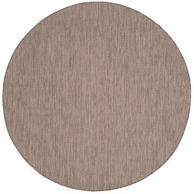 Mullen Brown / Beige Area Rug Rug Size: Round 67