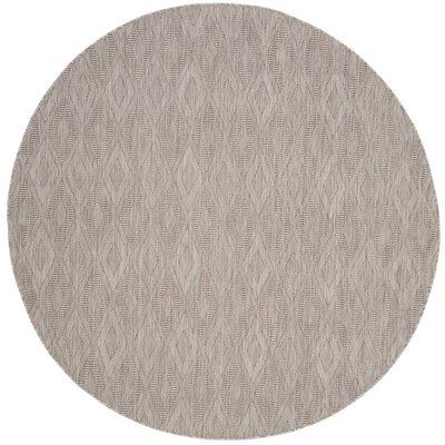 Lefferts Beige Indoor/Outdoor Area Rug Rug Size: Round 67