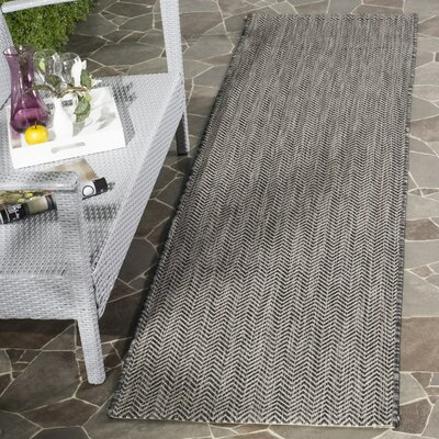 Mullen Rectangle Black / Beige Area Rug Rug Size: Runner 23 x 8