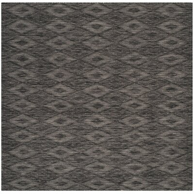Lefferts Black Indoor/Outdoor Area Rug Rug Size: Square 67