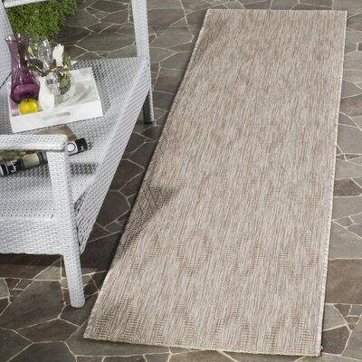 Estella Beige Indoor/Outdoor Area Rug Rug Size: Runner 23 x 12