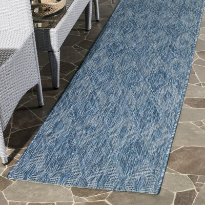 Lefferts Navy Indoor/Outdoor Area Rug Rug Size: Runner 23 x 8