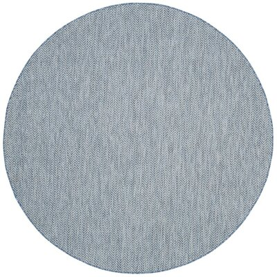 Mullen Navy / Gray Area Rug Rug Size: Round 67