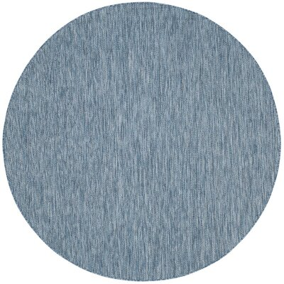 Estella Navy Indoor/Outdoor Area Rug Rug Size: Round 6'7