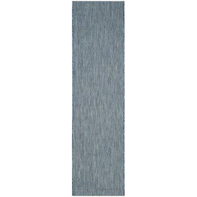 Mullen Navy / Gray Area Rug Rug Size: Runner 23 x 8