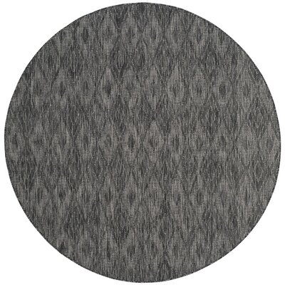 Lefferts Black Indoor/Outdoor Area Rug Rug Size: Round 67
