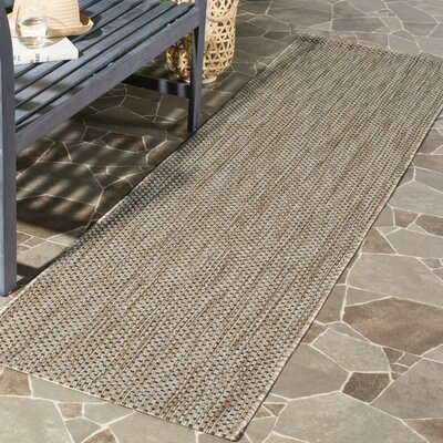 Mullen Natural / Black Area Rug Rug Size: 8 x 11