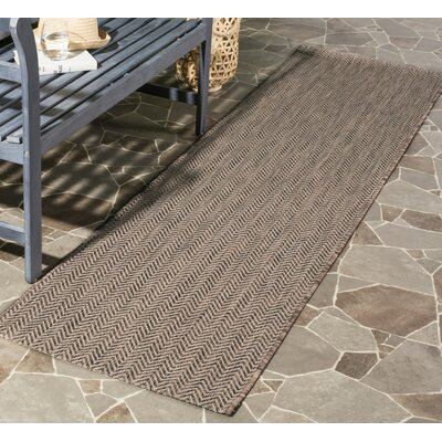 Estella Brown / Beige Area Rug Rug Size: 9 x 12