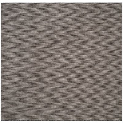 Mullen Rectangle Black / Beige Area Rug Rug Size: Square 67
