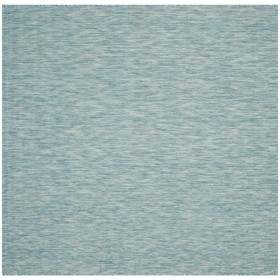 Lefferts Aqua Indoor/Outdoor Area Rug Rug Size: Square 67
