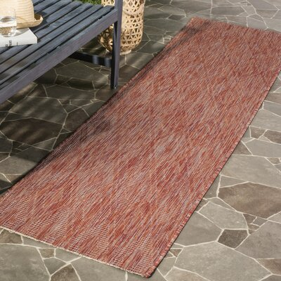 Lefferts Red Indoor/Outdoor Area Rug Rug Size: Runner 23 x 8