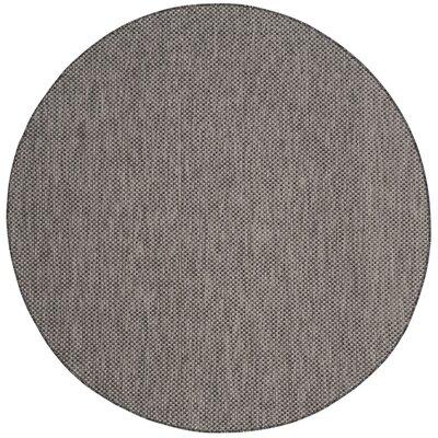 Mullen Black/Beige Area Rug Rug Size: Round 67