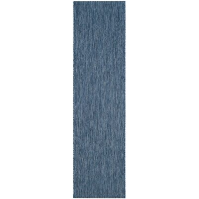 Estella Navy Indoor/Outdoor Area Rug Rug Size: Runner 23 x 8