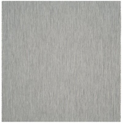 Mullen Gray / Navy Indoor/Outdoor Area Rug Rug Size: Square 67