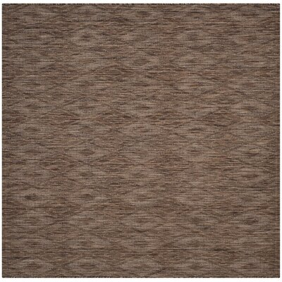 Lefferts Brown Indoor/Outdoor Area Rug Rug Size: Square 67