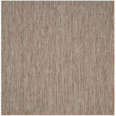 Estella Natural / Black Area Rug Rug Size: Square 67