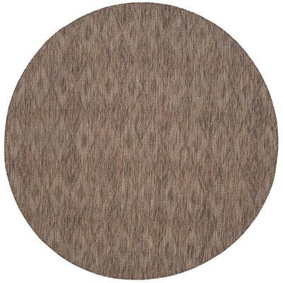 Lefferts Brown Indoor/Outdoor Area Rug Rug Size: Round 67