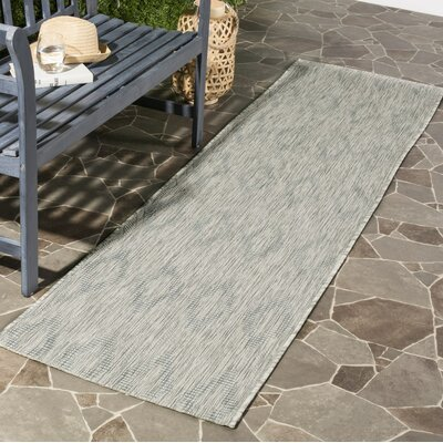 Lefferts Geometric Gray Indoor/Outdoor Area Rug Rug Size: 53 x 77