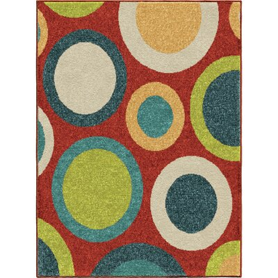Cara Planetary Red Area Rug