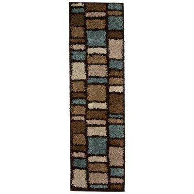 Desiree Brown/Blue Area Rug Rug Size: Runner 111 x 75