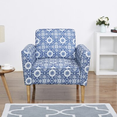 Daphne Arm Chair Upholstery: Blue Flower