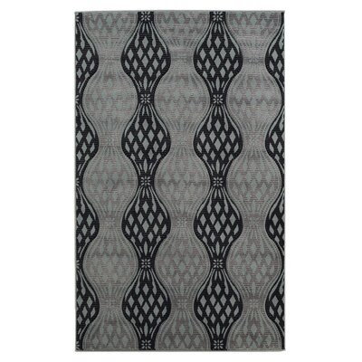 Cramden Black/Gray Area Rug Rug Size: Runner 111 x 210