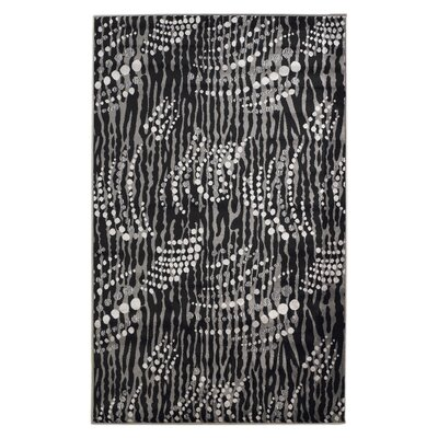 Azalea Black/Gray Area Rug Rug Size: Runner 111 x 210