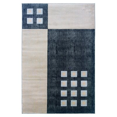 Carina Grey/Cream Area Rug Rug Size: Rectangle 8 x 103