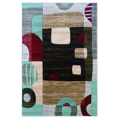 Carina Sand/Black Area Rug Rug Size: Rectangle 8 x 103