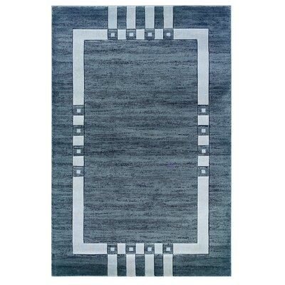 Carina Grey/Black Area Rug Rug Size: Rectangle 5 x 77