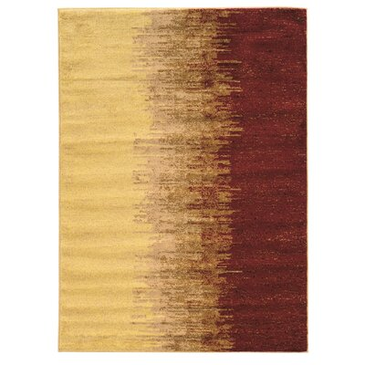 Briana Lave Red Rug Rug Size: Rectangle 8 x 10