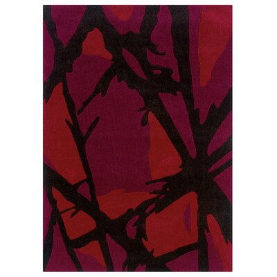 Harry Hand-Tufted Purple/Black Area Rug Rug Size: 110 x 210