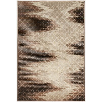 Kensley Trellis Zig Zag Brown Area Rug Rug Size: 2 x 3
