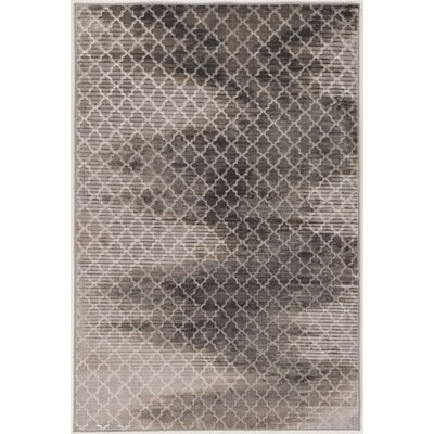 Amersfort Trellis Zig Zag Gray Area Rug Rug Size: Rectangle 5 x 76