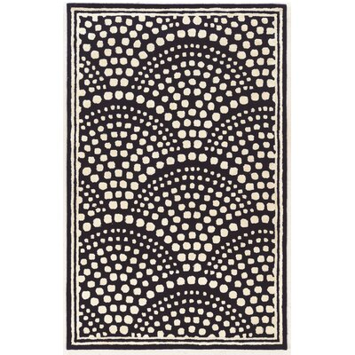 Allyson Wool Scallop Hand-Tufted Navy Area Rug Rug Size: 8 x 11