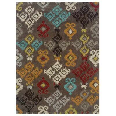 Crispin Hand-Tufted Gray Area Rug Rug Size: Rectangle 5 x 7
