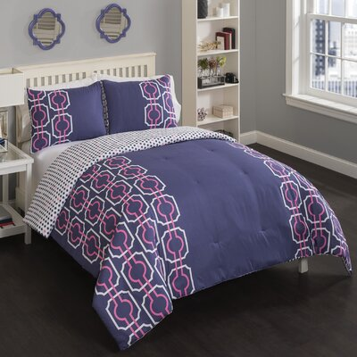 Brenda Reversible Comforter Set Size: King