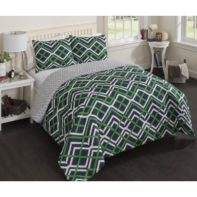 Lylah Reversible Comforter Set Size: Full/Queen